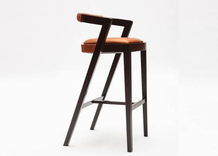 chaise haute tabouret de bar design coloris et matieres au choix string sd par livoni