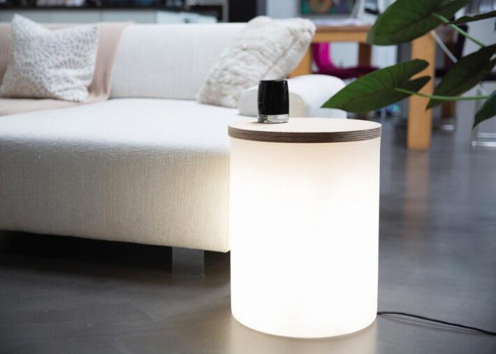 table d appoint ou jardiniere interieur exterieur 5 couleurs shining drum 8 seasons design