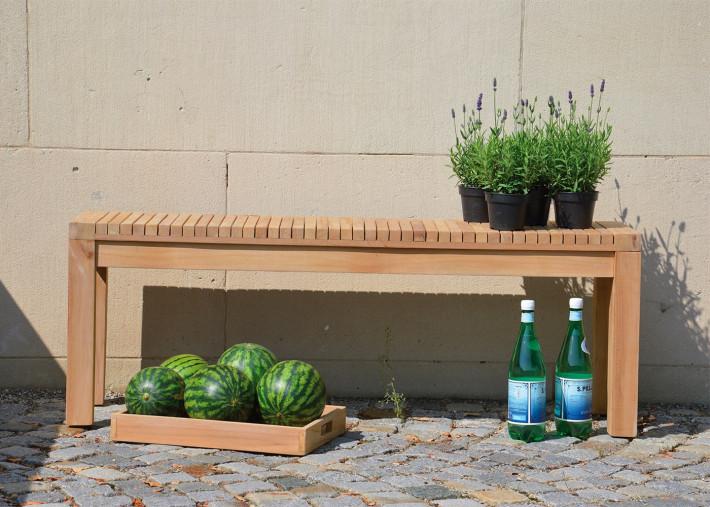 banc de table exterieur en teck massif 3 tailles au choix samoa par jankurtz