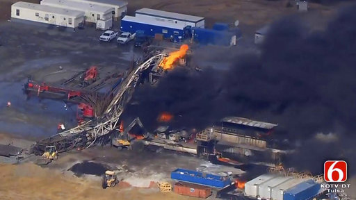 Drilling Rig Explosion Oklahoma_508798