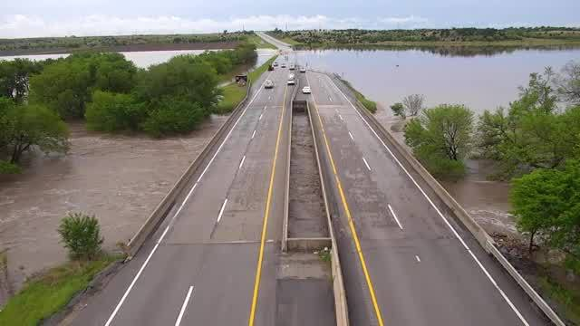 More video of flooding along Kansas Turnpike south of Wichita