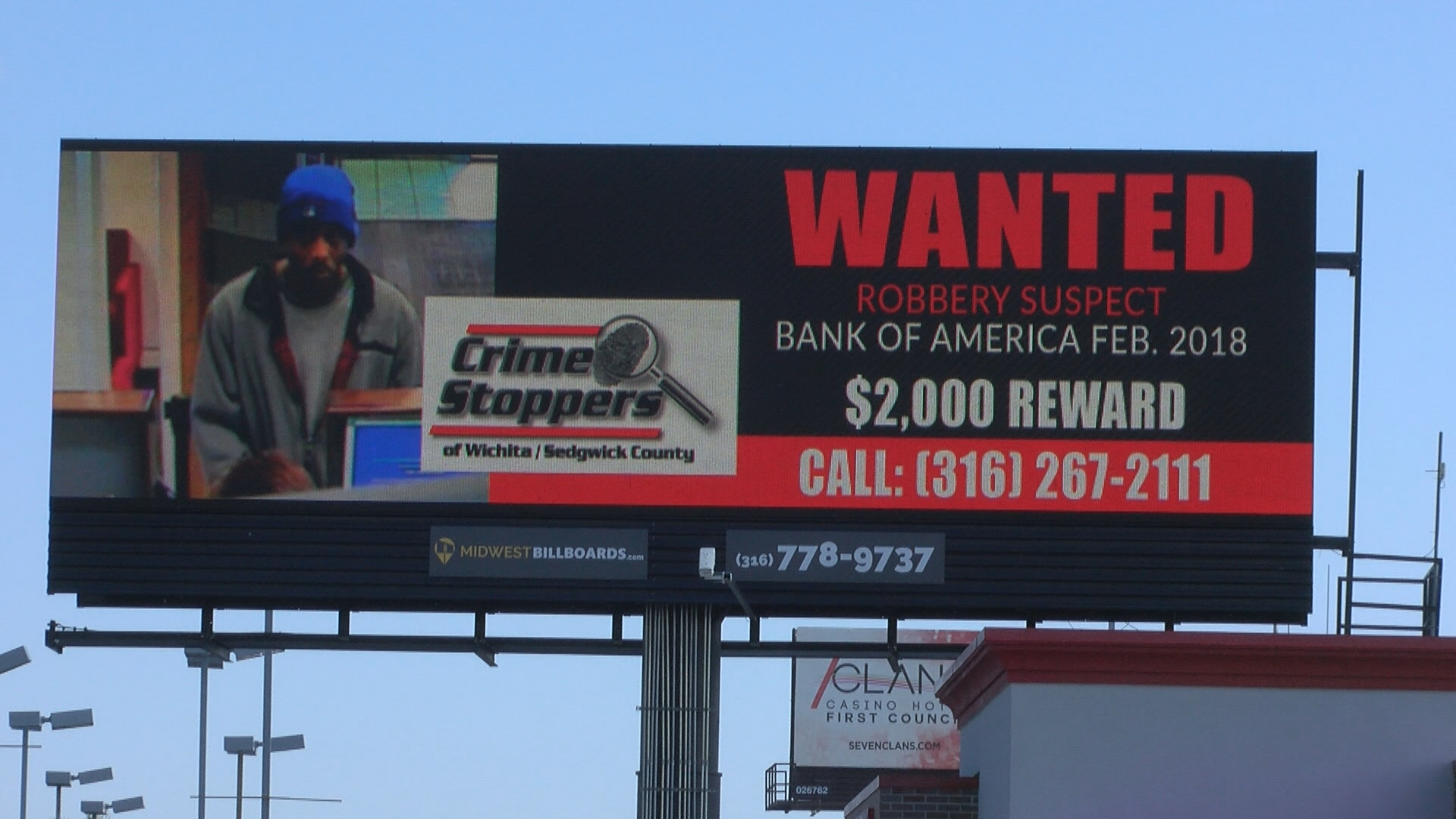 Wanted bank robbery suspects featured on Wichita billboards