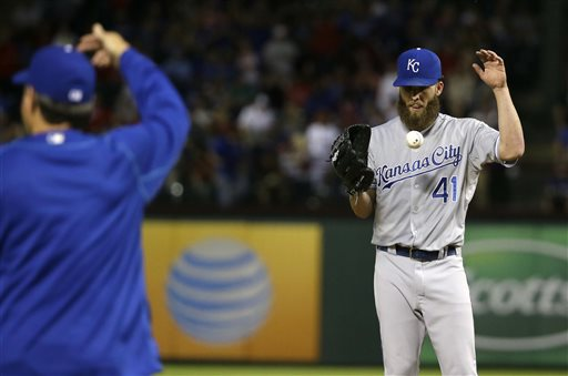 Danny Duffy, Ned Yost_128906