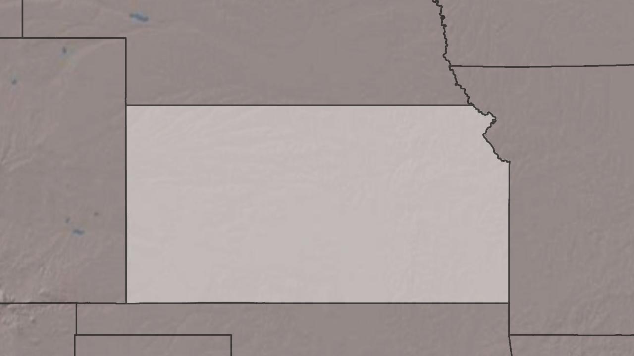 kansas, state, map, outline, generic (AP)_192773