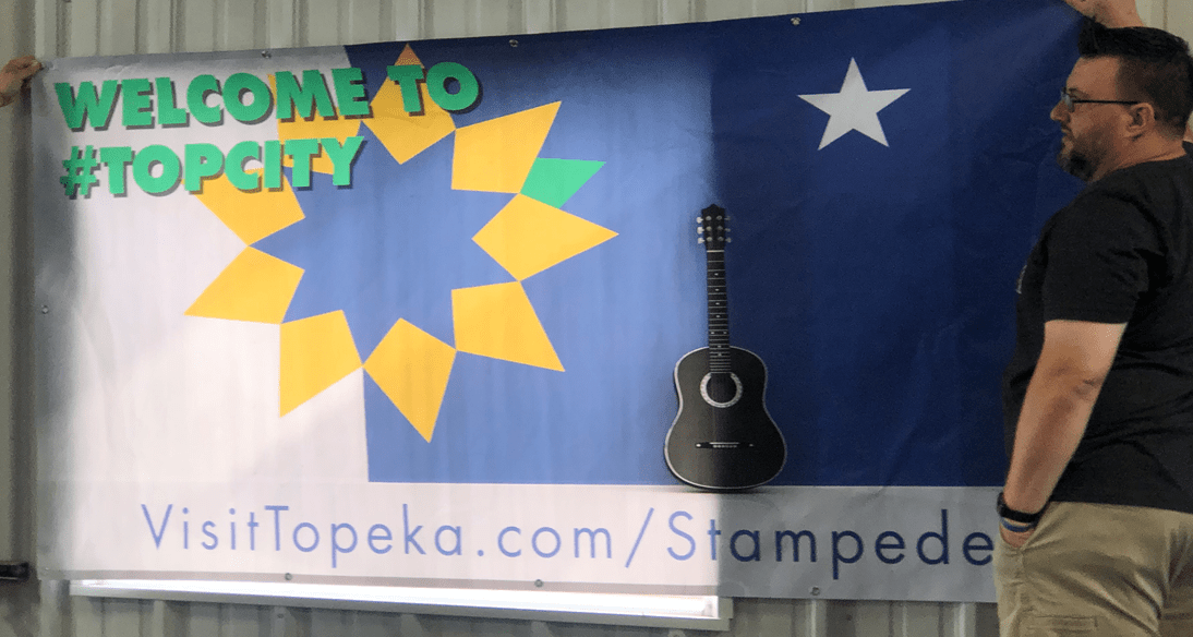 welcome stampede banner