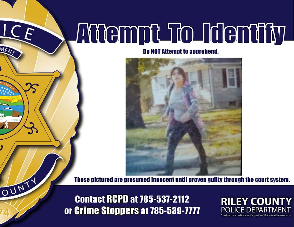 Riley County police looking for woman who left scene of crash