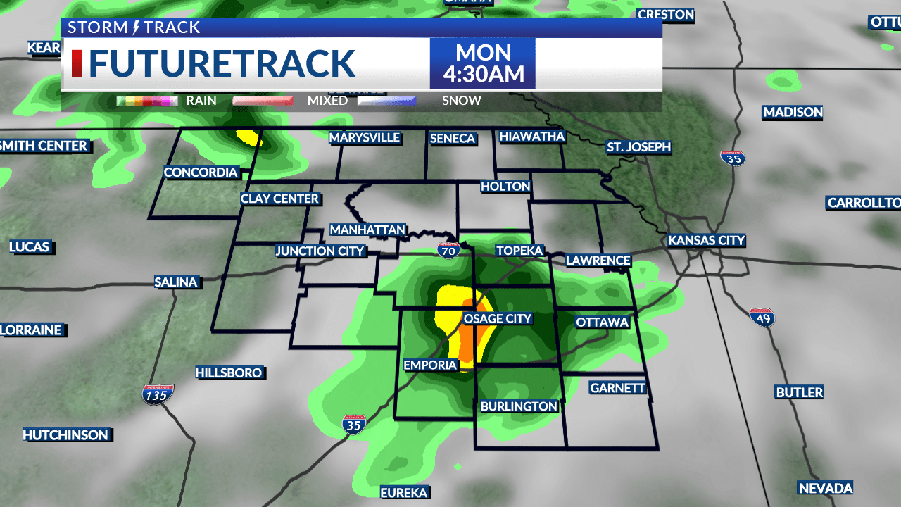 Scattered rain for the first part of the week