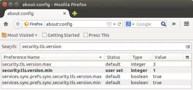 Firefox ssl 3 Ubuntu