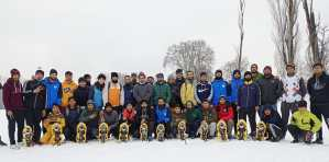 Winter Sports : SnowShoe event held at SP College ground Srinagar