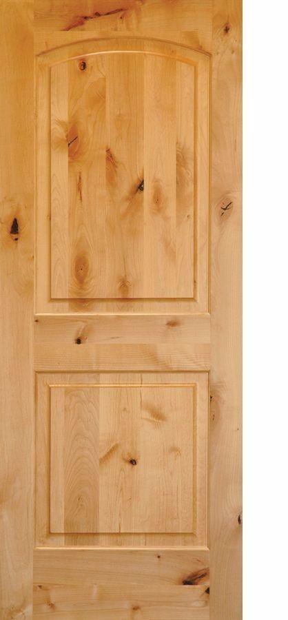 KNOTTY ALDER ARCH TOP 2 PANEL INTERIOR DOORS IN 1002 KSR
