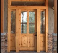 KNOTTY ALDER 2-LITE CRAFTSMAN ENTRY DOOR WITH SIDELITES EX ...