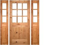 KNOTTY ALDER 9-LITE COTTAGE STYLE ENTRY DOOR WITH ...