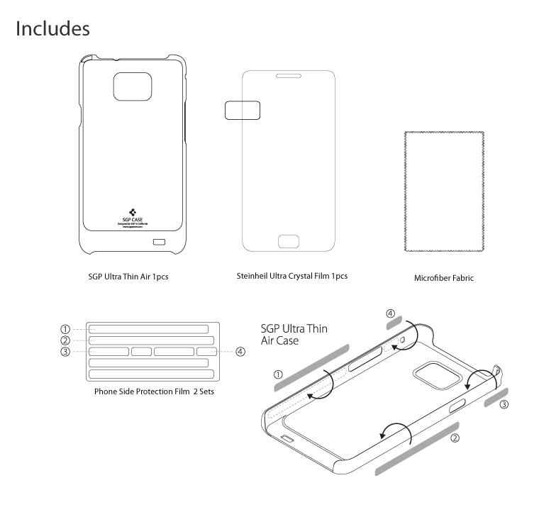 SGP Ultra Thin AIR Cover Case For Samsung Galaxy S2 i9100