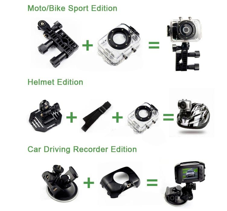 Hot Sports DVR Helmet Waterproof Camera HD Action Camera