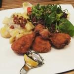 Backhendl Keulen mit bayrischem Erdäpfelsalat