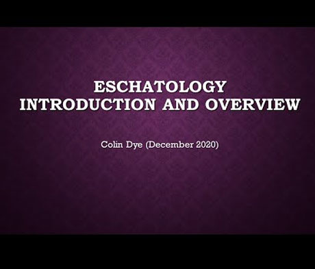 Eschatology An Introduction and Overview