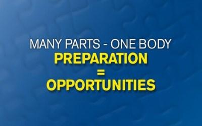 Preparation = Opportunities