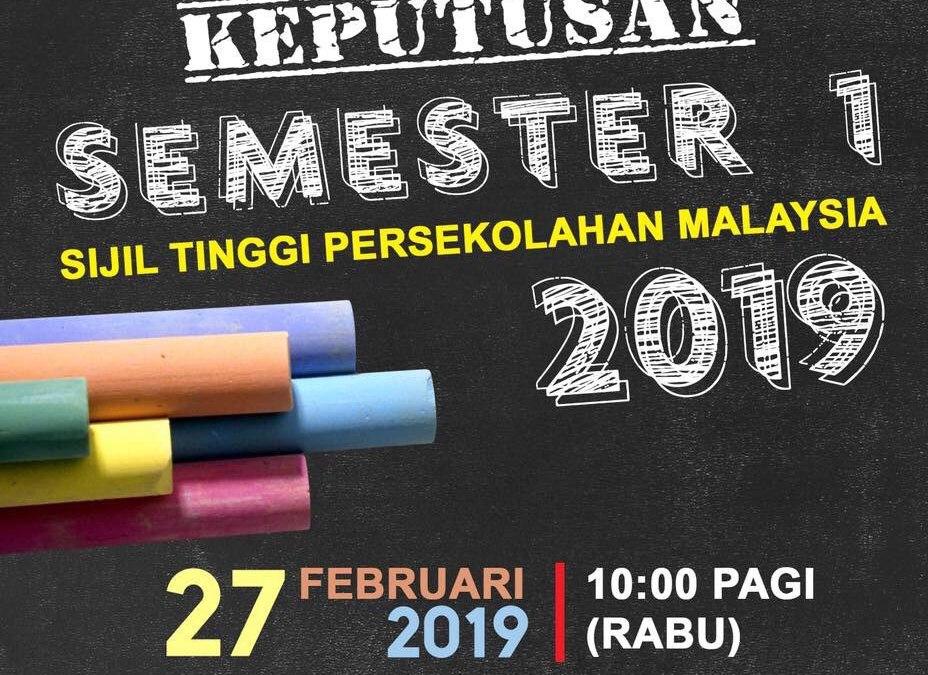 Semakan Keputusan STPM Semester 1 2019