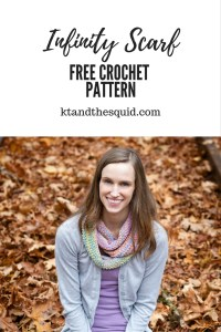 free infinity scarf pattern by KT and the Squid