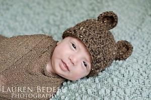 Free crochet bear hat pattern
