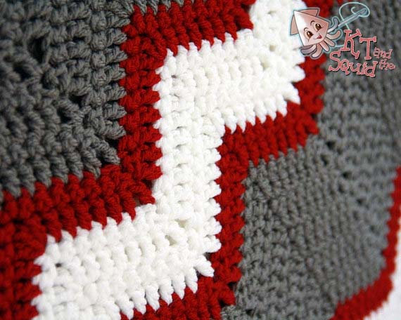 Vintage Chevron Blanket Crochet Pattern Kt And The Squid
