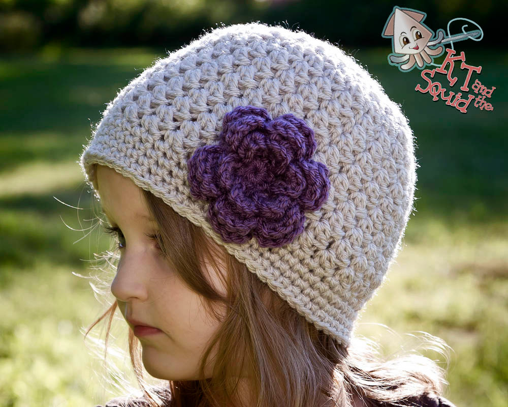 c6bea0030 Little Flower Ear Flap Hat Free Crochet Pattern by KT and the Squid