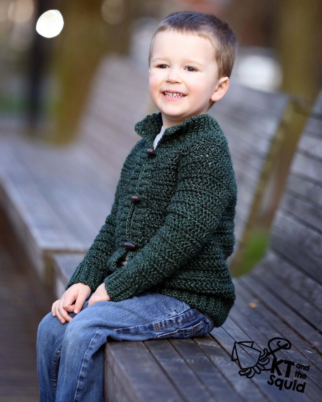 Burnside Cardigan Kids Crochet Pattern Kt And The Squid