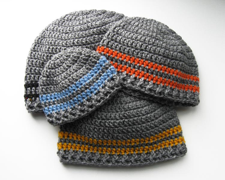 Two Stripe Beanie Crochet Pattern Kt And The Squid