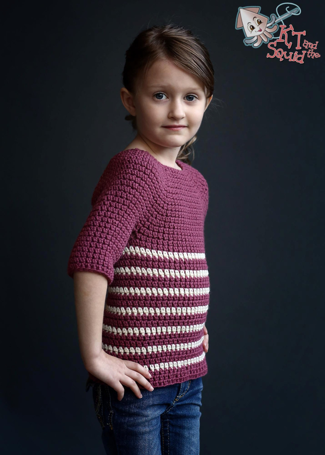 Kayla Sweater Girls Crochet Pattern Kt And The Squid