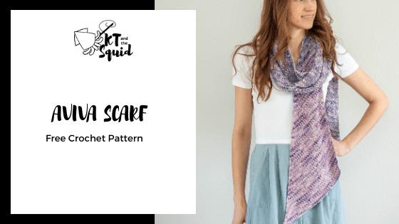 Aviva Scarf Free Crochet Pattern