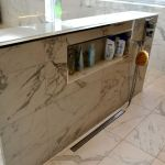 Feature Marble Tiles In Stunning Bathroom Kitchen Tile And Bathroom Gallery