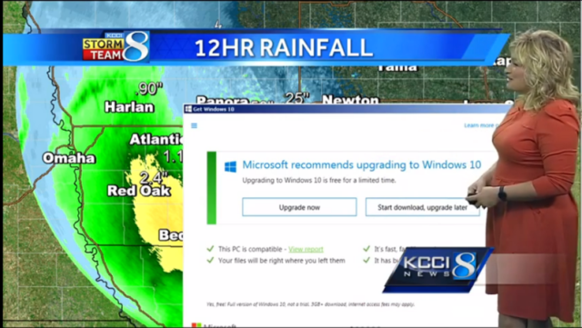 Windows 10 upgrade interrupts weather report