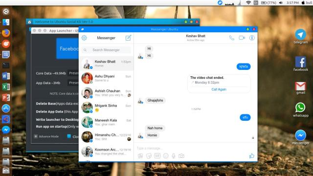 Messenger ubuntu desktop app