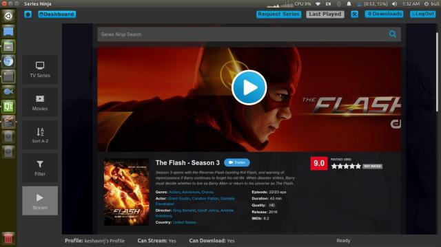 Screenshot Series Ninja Linux Alternative to Netflix