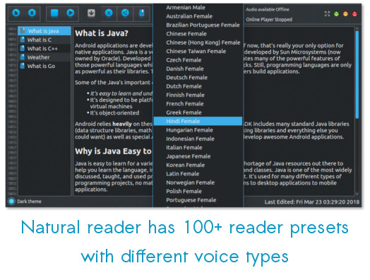 Natural Reader- A text to Speech Voice Reader released for Ubuntu/Linux Desktop