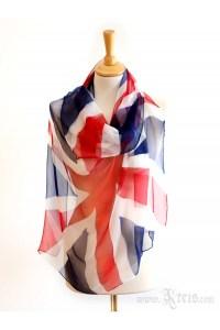 UK Flag Scarf - Chiffon Silk Scarf