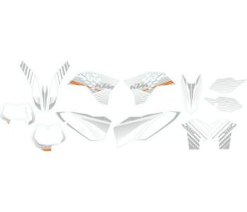 AOMC.mx: KTM Graphic Kit (White Chrome) 07-10