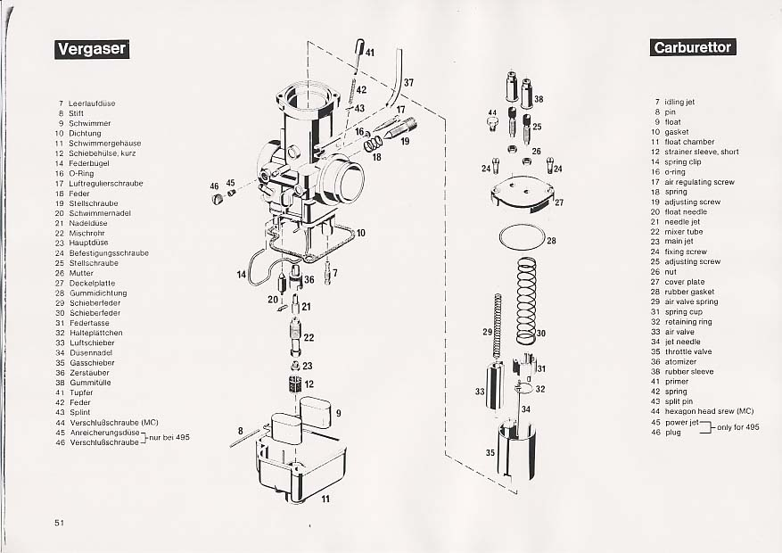 KTM495 Owner's Repair manual, 1981