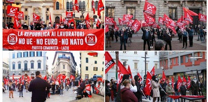 Italiassa laajoja hallituksen vastaisia mielenosoituksia