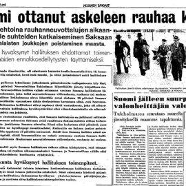 Sanomalehtikatsaus – Suomen sotapropaganda ja viholliskuvan luominen (Osa 2)