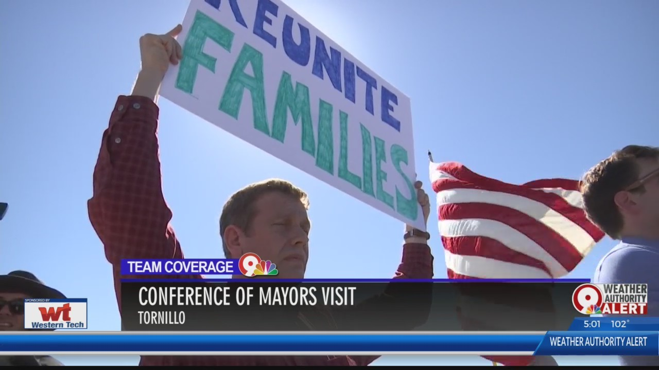 U.S. Conference of Mayors visit Tornillo Port of Entry