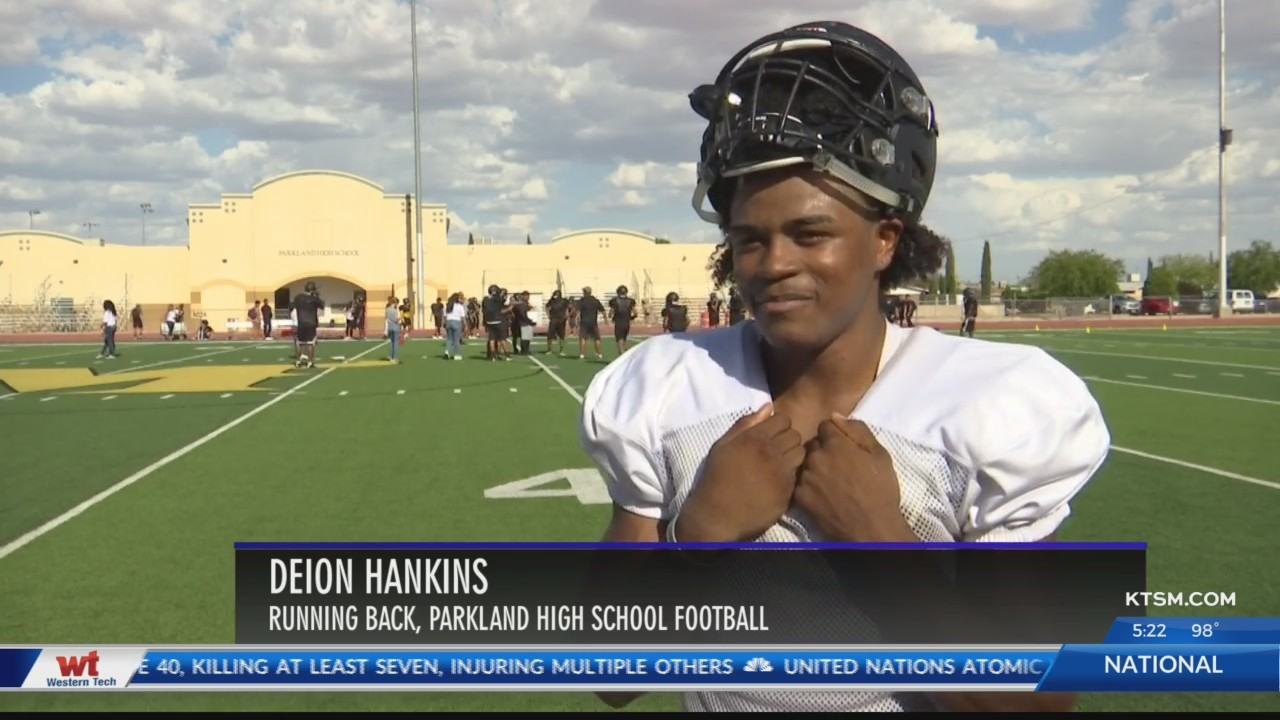 Parkland High School RB Deion Hankins has faith