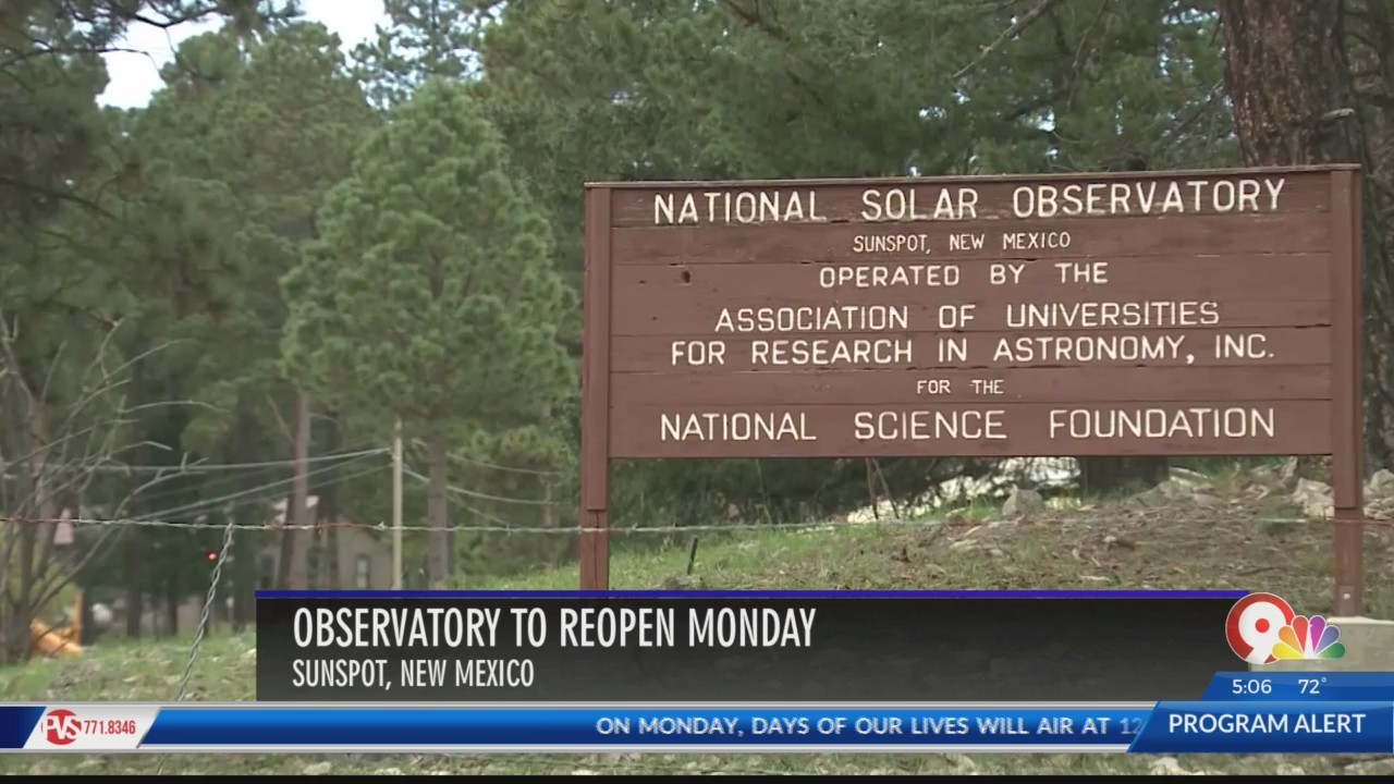 Sunspot Solar Observatory reopens