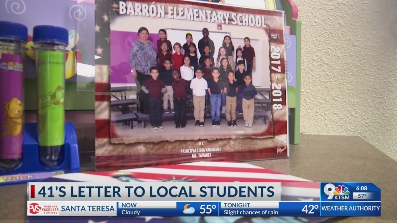 Local elementary school students received letter from George H.W. Bush