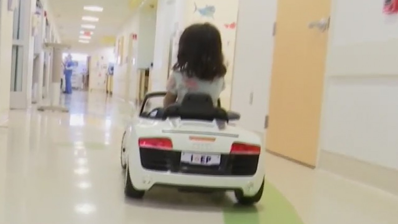 El Paso Children's Hospital uses toy cars to take patients to operating room