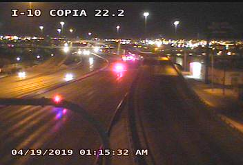 Police on scene of Deadly Motorcycle Crash on I-10 near Copia