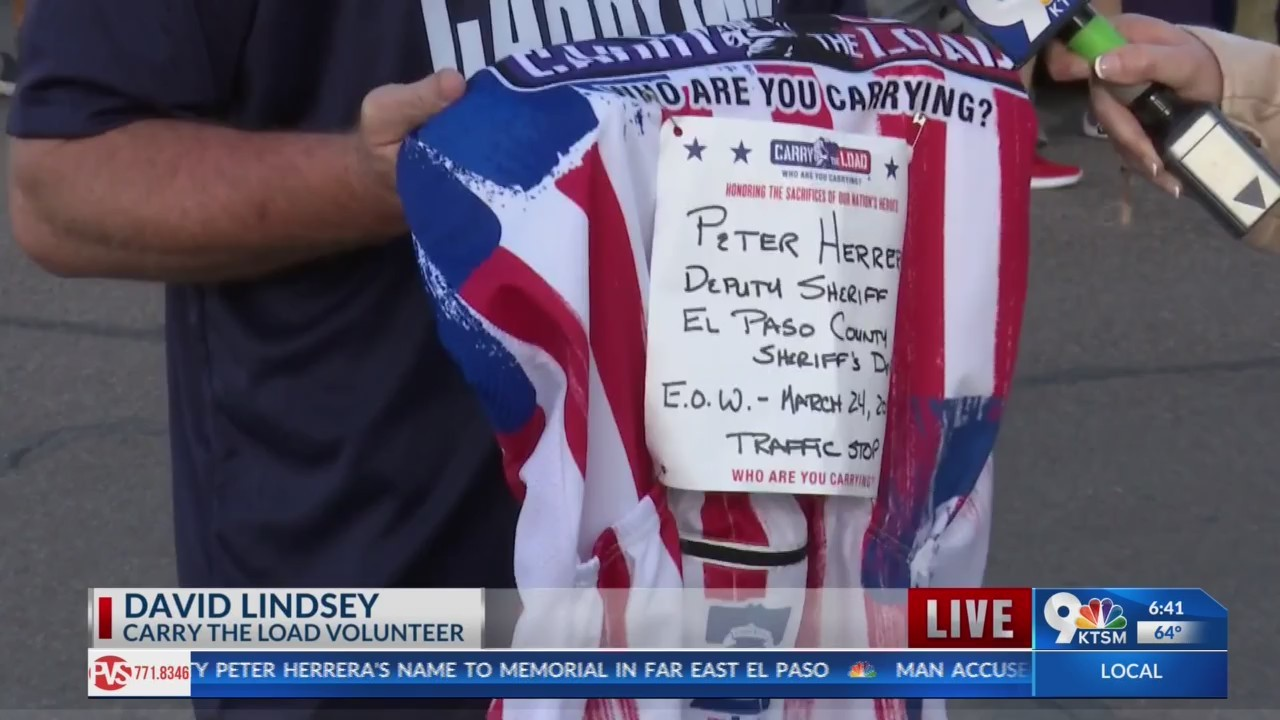 Carry The Load, honoring our Nations Heros passing through El Paso.