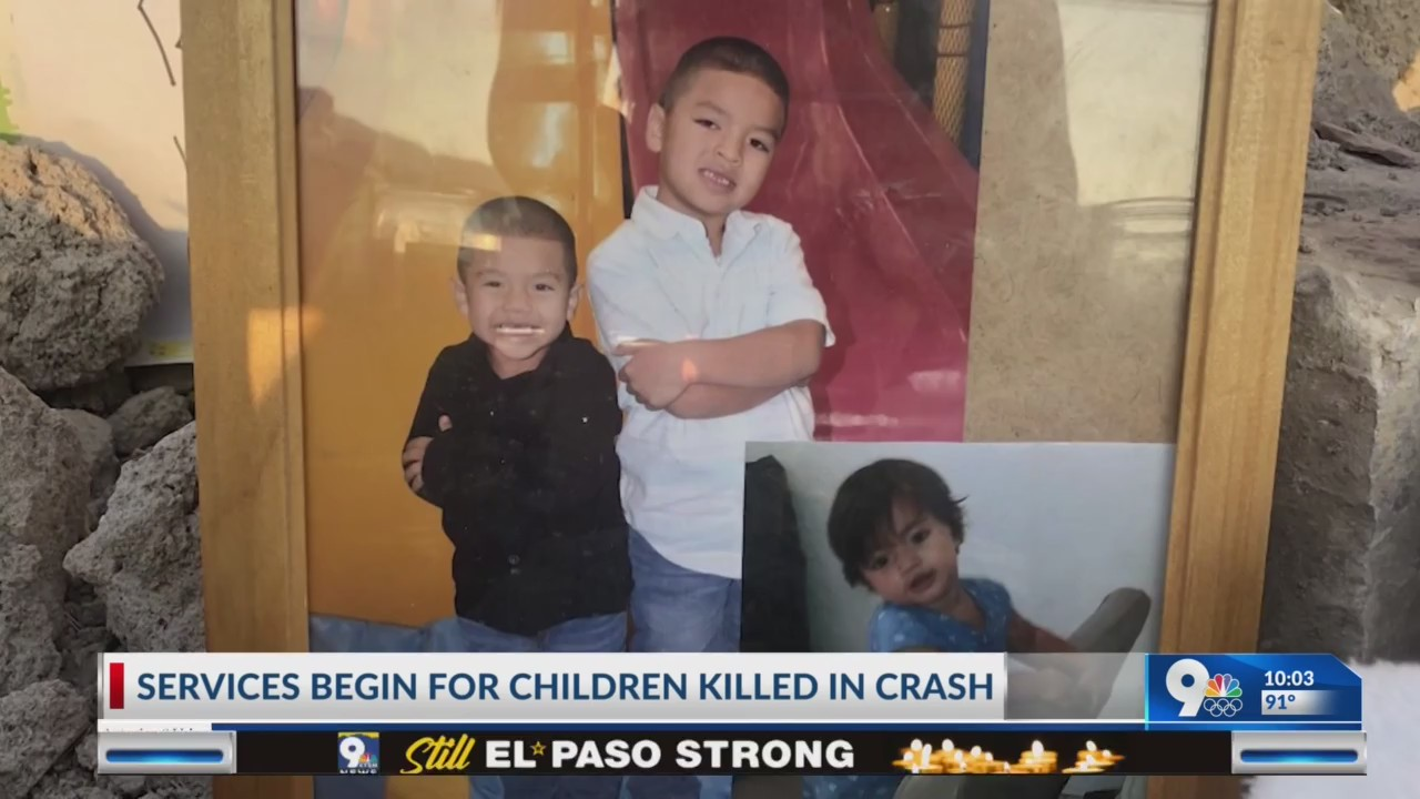 Services begin for children killed in crash