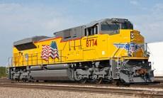 Union Pacific locomotive train