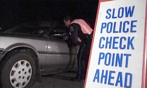 Highway Patrol DWI Checkpoint